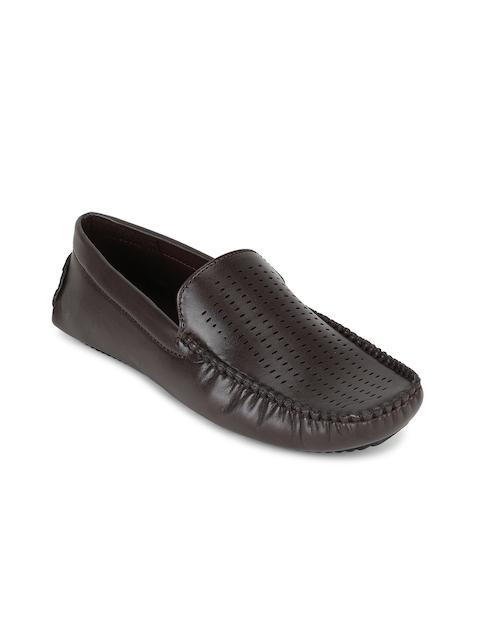 Peter England Men Brown Solid Formal Loafers