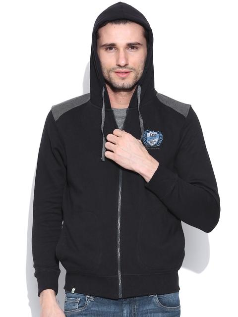 NU ECO Black Hooded Sweatshirt