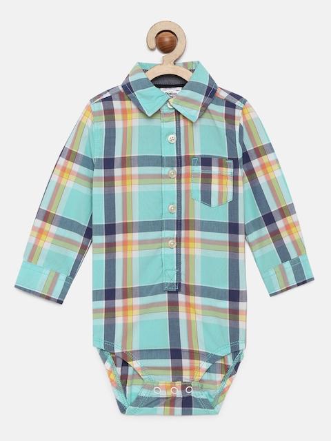 OSHKOSH Bgosh Boys Multicolored Checked Bodysuit