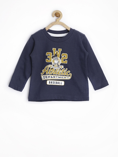 Palm Tree by Gini & Jony Boys Navy Printed Sweatshirt
