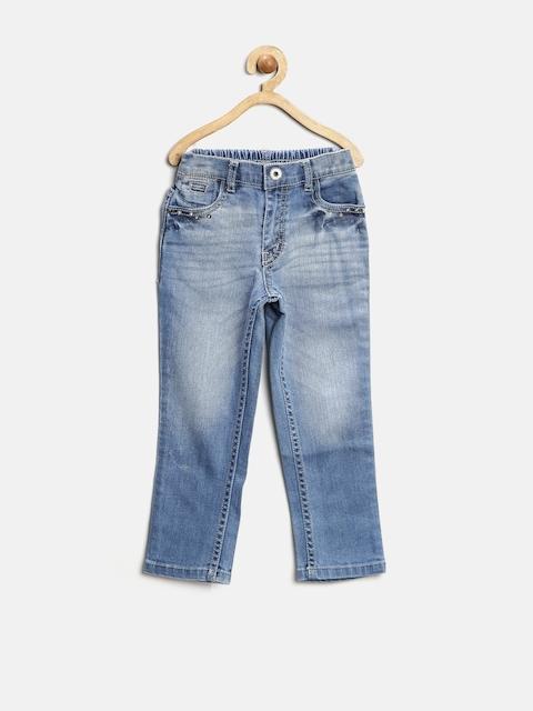 GJ Unltd Jeans by Gini & Jony Girls Blue Washed Jeans
