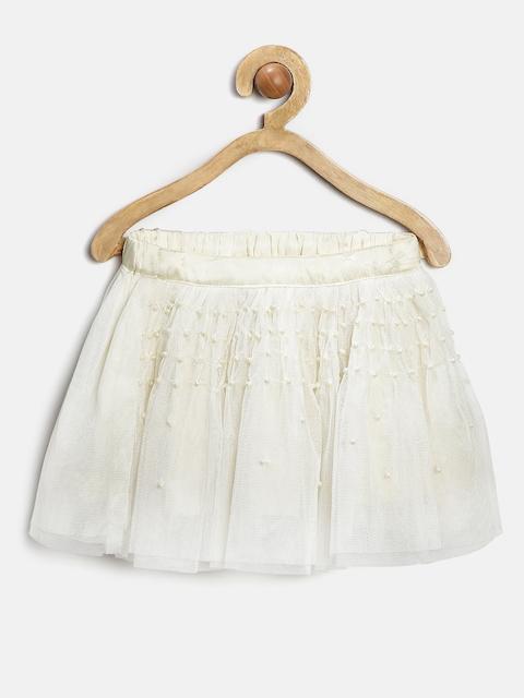 Gini & Jony Girls Cream-Coloured Tulle Skirt
