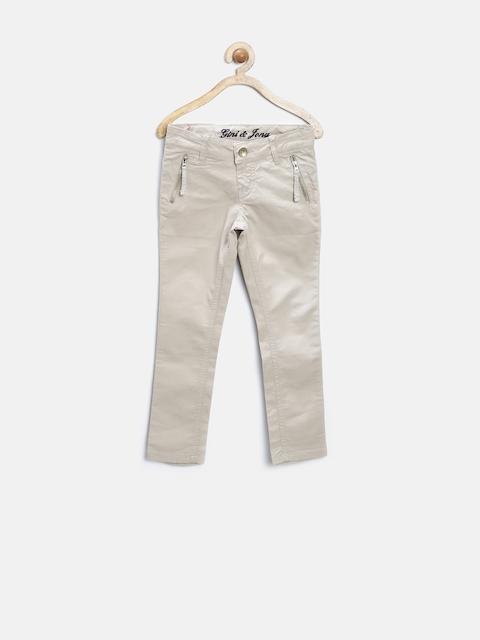 GJ Unltd Jeans by Gini & Jony Girls Beige Trousers