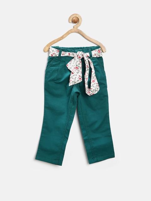 Gini & Jony Girls Dark Green Trousers