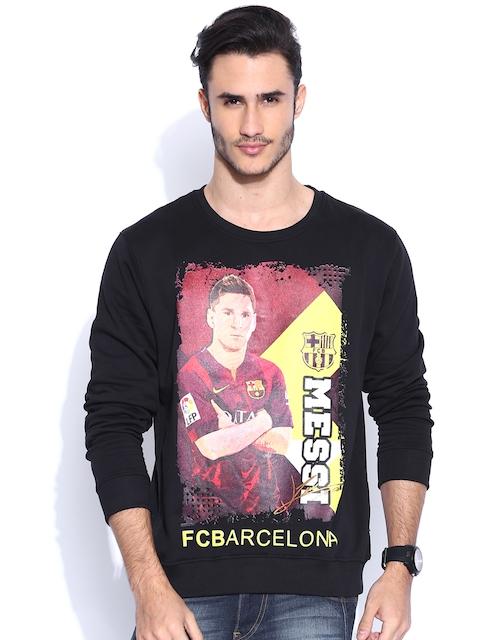 FC Barcelona Black Printed Sweatshirt