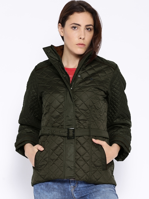 Duke Olive Green Quilted Jacket