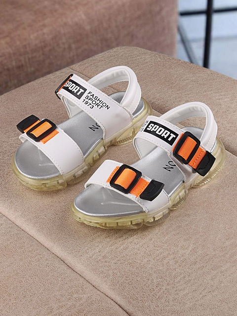 Walktrendy Kids White Sports Sandals