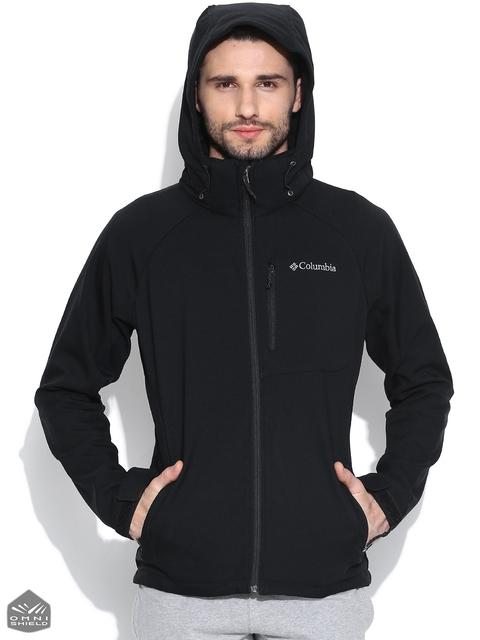 Columbia Black Cascade Ridge II Softshell Sweatshirt with Detachable Hood