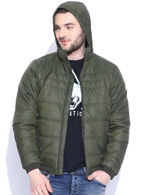 Jack & Jones Olive Green Hooded Jacket