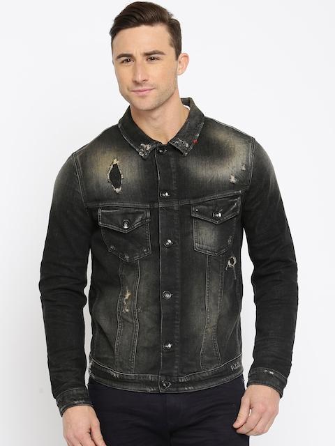 Jack & Jones Black Washed Denim Jacket