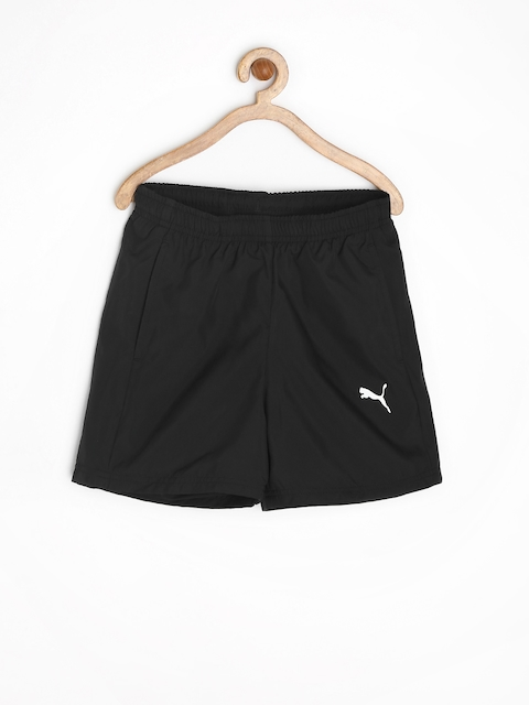 PUMA Boys Black Sports Shorts  available at myntra for Rs.479