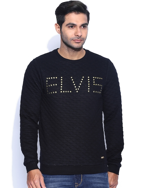 Jack & Jones Black Elvis Presley Quilted Sweatshirt