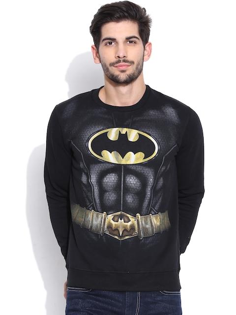 Batman Black Printed Sweatshirt