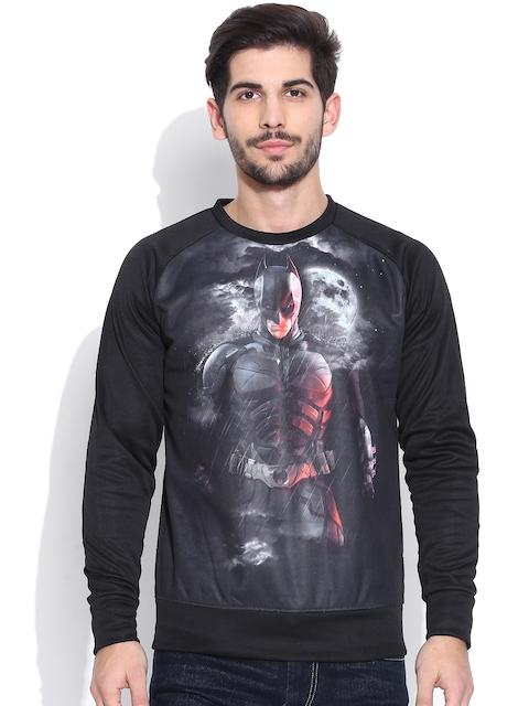 Batman Black & Charcoal Grey Printed Sweatshirt