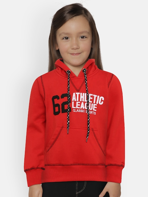 The Sandbox Clothing Co. Unisex Red Solid Hooded Sweatshirt