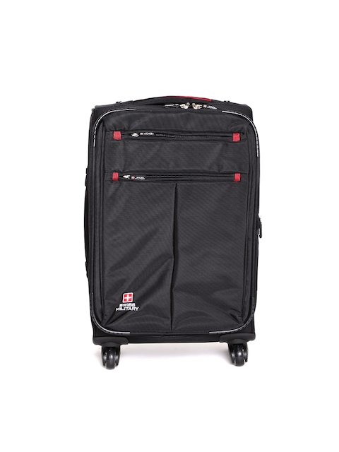SWISS MILITARY Unisex Black 40L Trolley Bag