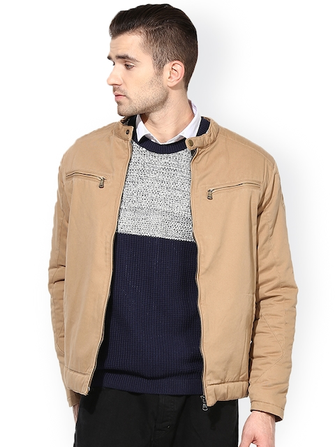 Monteil & Munero Beige Jacket  available at myntra for Rs.1519