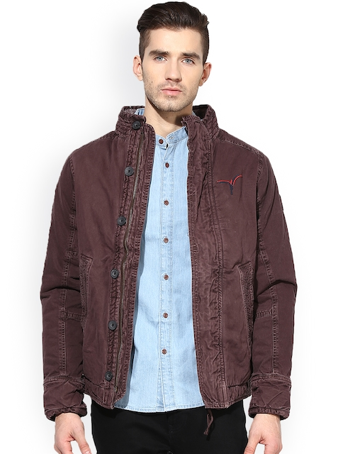 Monteil & Munero Brown Jacket  available at myntra for Rs.1599