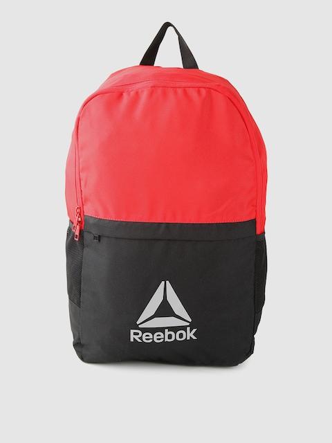 Reebok Unisex Red & Black Style Fon X Colourblocked Laptop Backpack