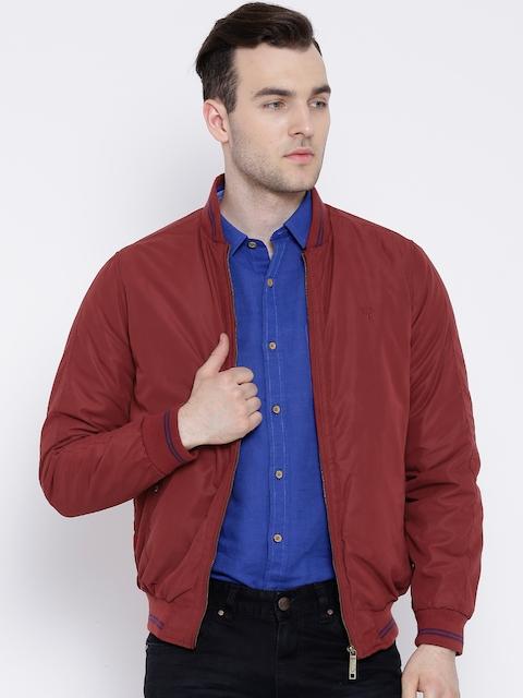 Allen Solly Maroon Oadded Jacket