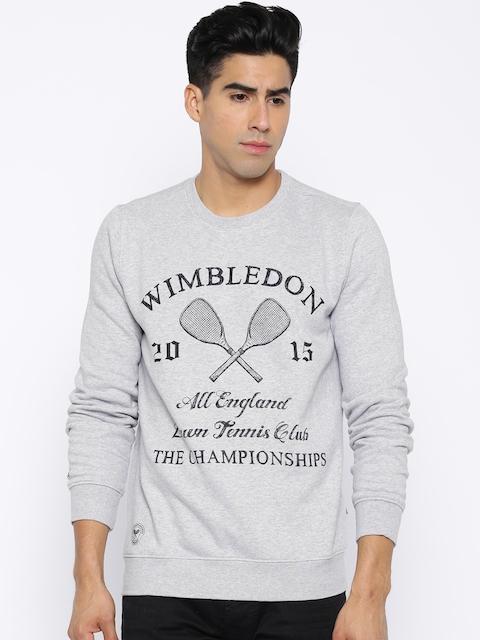 Allen Solly Sport Grey Melange Printed Sweatshirt