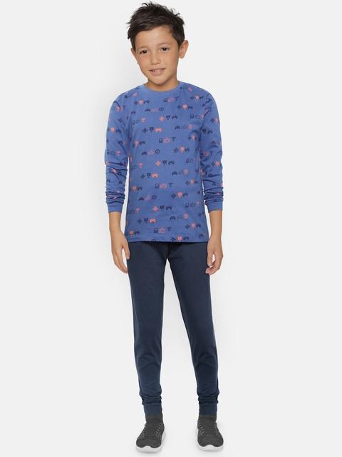 OVS Boys Blue Printed T-shirt with Pyjamas
