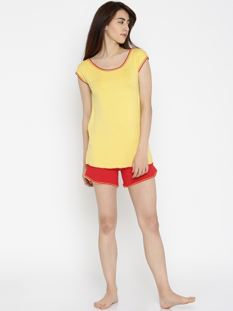 Enamor Yellow & Red Lounge Set TP56
