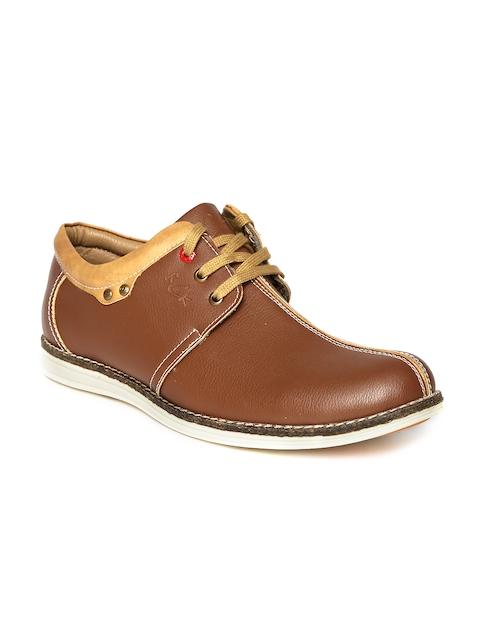 BCK Men Tan Brown Casual Shoes  available at myntra for Rs.878