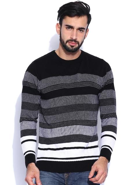 Peter England Black & Grey Sweater