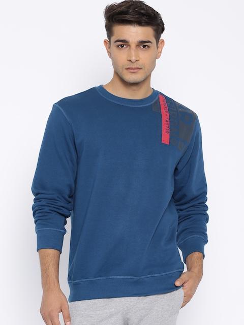 Reebok Men Blue Graphic Training Sweatshirt
