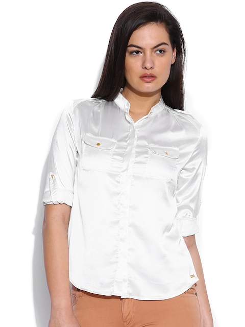 Being Human Clothing Off-White Shirt
