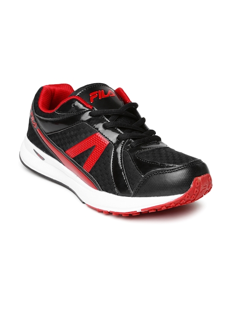 FILA Men Black & Red Element II Sports Shoes