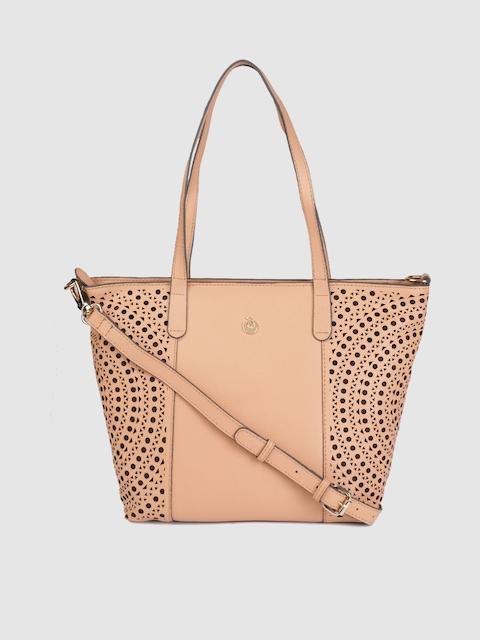 Holii Nude-Coloured Textured Leather Shoulder Bag