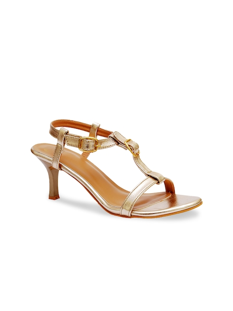 iLO Women Gold-Toned Heels  available at myntra for Rs.839
