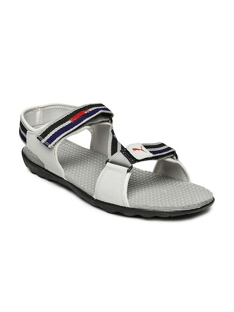 PUMA Unisex Grey & Black Silicis Mesh DP Sports Sandals