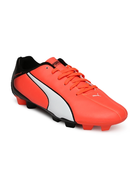 PUMA Men Neon Orange & Black Printed Adreno FG Football Shoes  available at myntra for Rs.1799