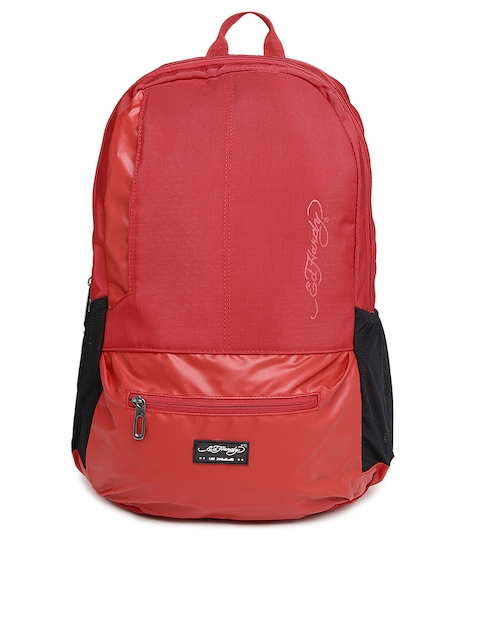 Ed Hardy Unisex Red Waterproof Backpack  available at myntra for Rs.3099