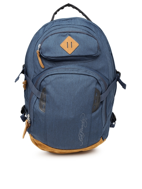 Ed Hardy Unisex Navy Waterproof Backpack  available at myntra for Rs.2999