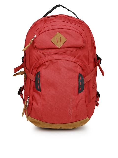 Ed Hardy Unisex Red Waterproof Backpack  available at myntra for Rs.2099