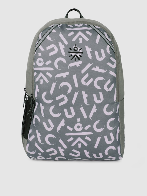 Cultsport Unisex Grey Graphic Backpack