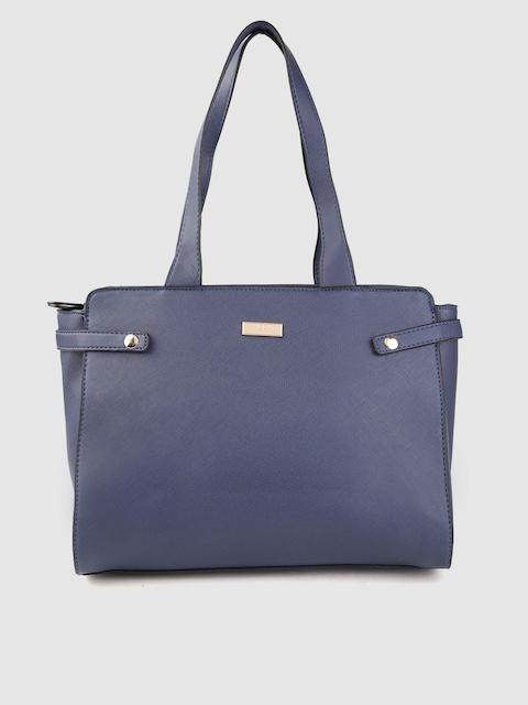 Carlton London Navy Blue Solid Shoulder Bag