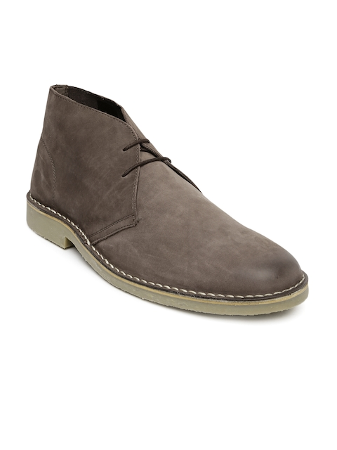 Steve Madden Men Brown Leather Boots  available at myntra for Rs.6499