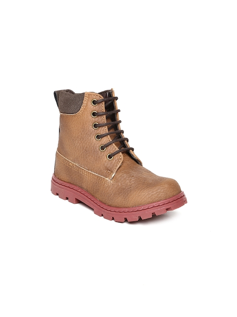 Arden by Knotty Derby Kids Brown Boots  available at myntra for Rs.795