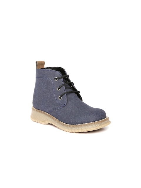 Arden by Knotty Derby Kids Navy Textured Boots  available at myntra for Rs.795