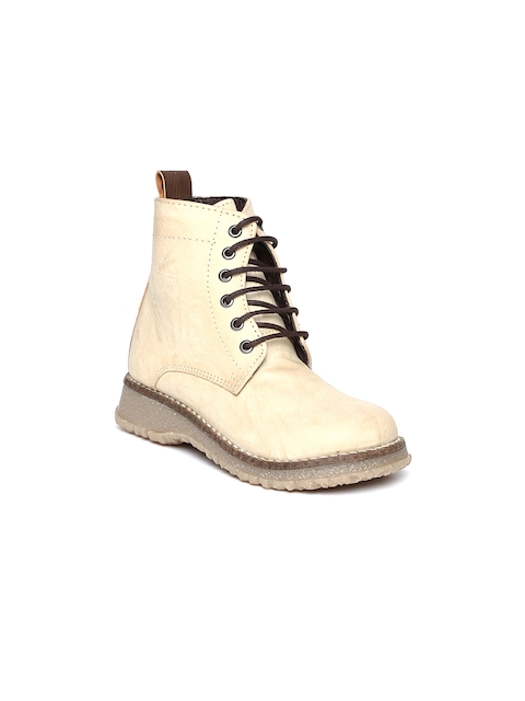 Arden by Knotty Derby Kids Beige Boots  available at myntra for Rs.795