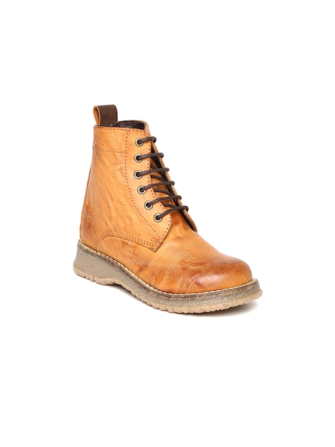 Arden by Knotty Derby Kids Tan Brown Boots  available at myntra for Rs.795