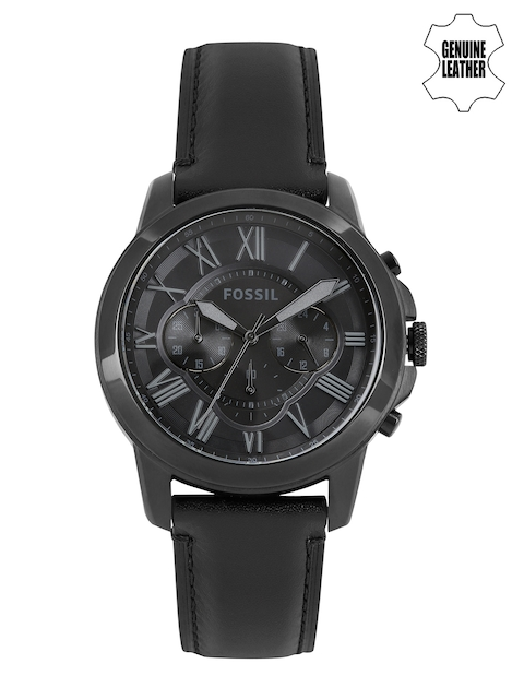 Fossil Men Black Dial Chronograph Watch FS5132