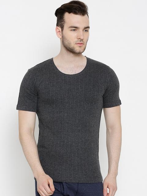 NEVA Grey Melange Thermal T-shirt OMS2A