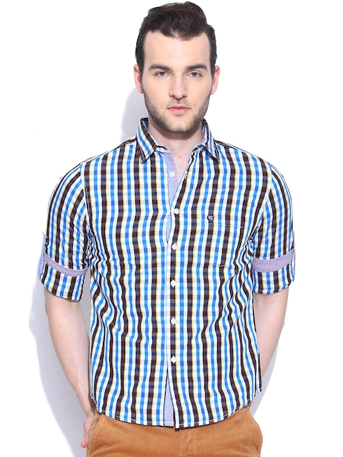 American Swan Multicoloured Checked Casual Shirt