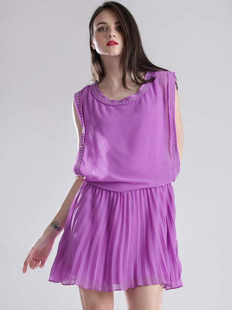 GUESS Lavender Blouson Dress